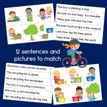 Earth Day Bundle: Patterns, Reading, Word Building & Game