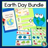 Earth Day Activities Bundle with Patterns, Reading, Word Building and Game
