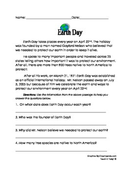 Earth Day Packet (EASY NO-PREP)