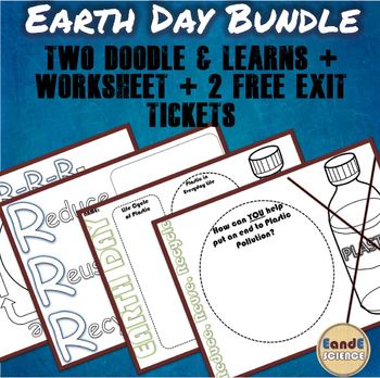 Earth Day Bundle- Reduce, Reuse, Recycle/ Plastic Pollution- 2 FREE EXIT TICKETS