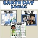 Earth Day Bundle - Worksheets, Puzzles, Sudokus