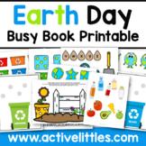 Earth Day Busy Book Quiet Book Preschool Activity Binder - April