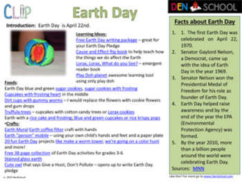 Earth Day CLIP (Creative Learning in a Pinch)