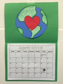 April Calendar- Earth Day