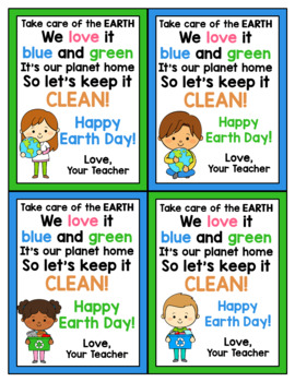 Earth Day Cards for Students - Editable in color & black and white!