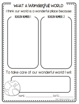 earth day activities earth day writing by first grade buddies tpt. Black Bedroom Furniture Sets. Home Design Ideas
