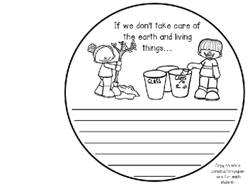 Earth Day Cause & Effect Writing Craftivity
