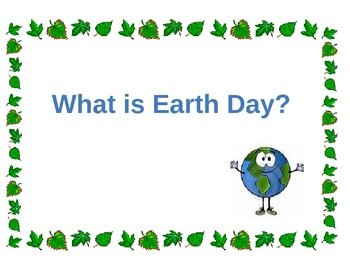 Earth Day- Celebrate