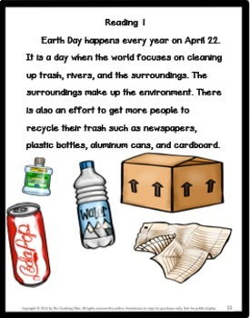 Earth Day No Prep with Literacy Activities