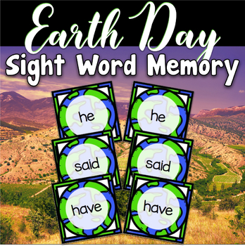 Earth Day Center ~ Sight Word Memory and Matching