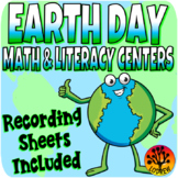 Earth Day Centers Activities Literacy Math Worksheets Recording Sheets
