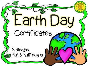 Earth Day Certificates-Free!