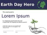 Earth Day Certificate_v01