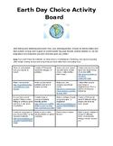 Earth Day Choice Activity Board