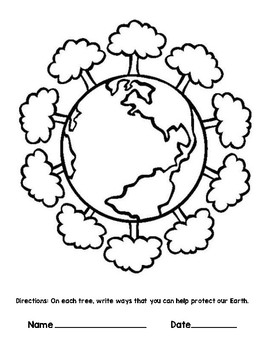Earth Day Circle Map