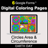 Earth Day: Circles Area & Circumference - Google Forms | D