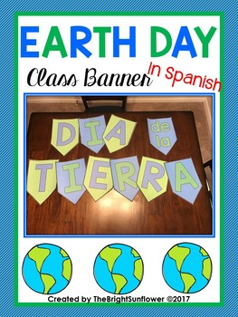 Earth Day Class Banner in Spanish