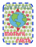 Earth Day- Class Book Cover Page & Writing Paper