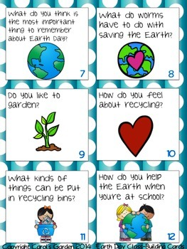 Earth Day Class-Building Cards