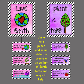 Earth Day Classroom Posters and Visual Brainstorm