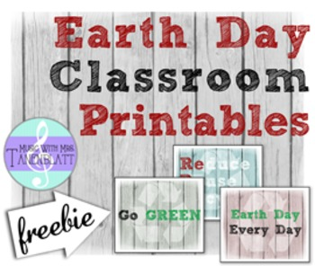 Earth Day Classroom Printables