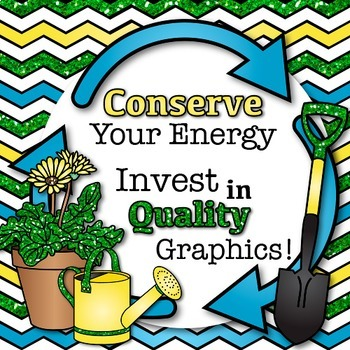 Earth Day Clip Art, Scrapbook Paper, Frames {Recycling, Conservation in Science}