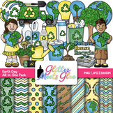 Earth Day Clip Art, Scrapbook Paper, Frames {Recycling, Co
