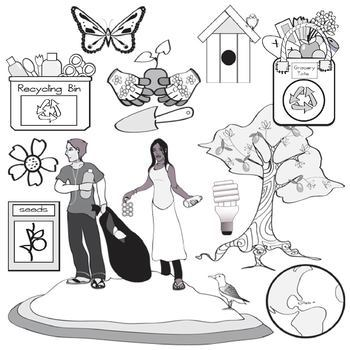 Earth Day Clip Art - 27 Eco Friendly Graphics