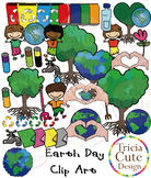 Earth Day Clip Art - Kids, Trees, Earth