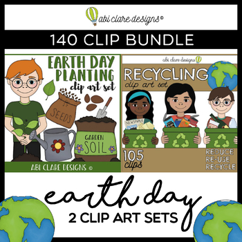 Earth Day Clip Art BUNDLE (140 Clips)