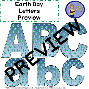 Earth Day Clip Art Letters with Punctuation
