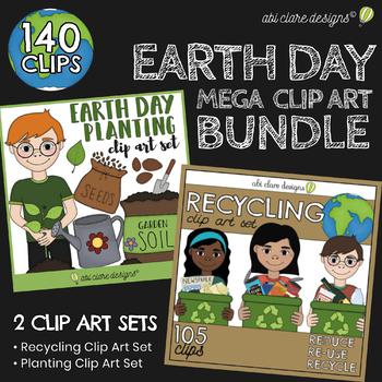 Earth Day Clip Art Mega Bundle [2 Sets]