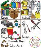 Earth Day Clip Art – Reuse, Reduce, Recycle, Repair