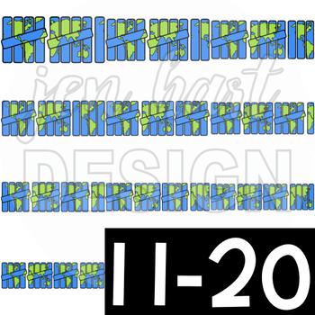 Earth Day Clip Art- Tally Marks 1-20 {jen hart Clip Art}