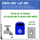 Earth Day Clip Art |  png | 300 DPI | Commercial Use | color & black and white