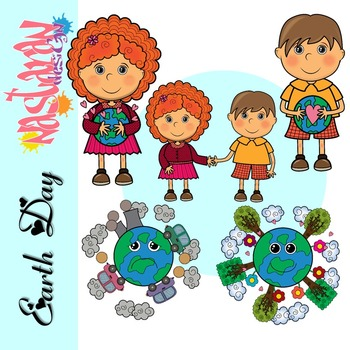 Earth Day Kids Clipart