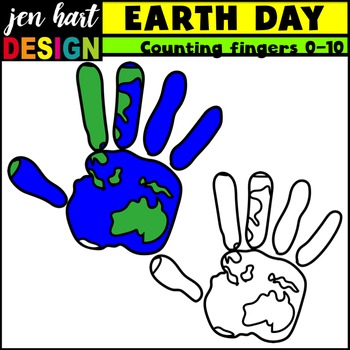 Earth Day Clipart {Counting Fingers}