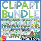 Earth Day Clipart Growing Bundle - Movable