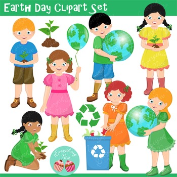 Earth Day Clipart Set