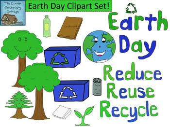 Earth Day Clipart Set {Personal and Commercial Use}