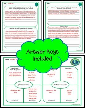 Earth Day Close Read for Grades 4-5