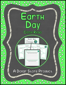 Earth Day Close Read for Grades 6-8