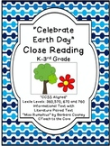 """""""Earth Day"""" Close Reading - K-3rd Grade -Text Passages/Graphic Organizers"""