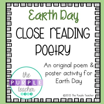 Earth Day Close Reading Poetry Activity