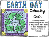 Earth Day ~ Color By Code ~ Mystery Picture