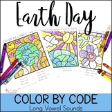 Earth Day Color By Code: Long Vowels
