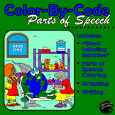 Parts of Speech: Sentence Structure, Coloring, Graphing, W
