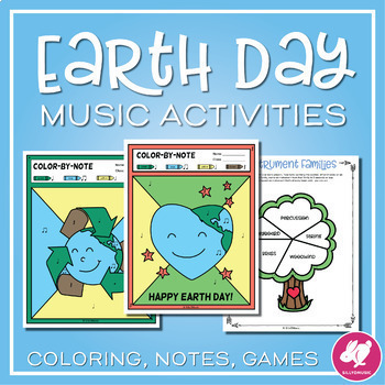 Earth Day Color-By-Music Note