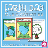 Earth Day Music Activities and Color-By-Note