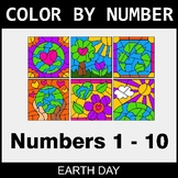 Earth Day Color By Number 1 - 10